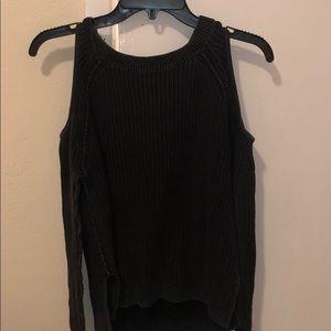 Hollister charcoal cold shoulder sweater